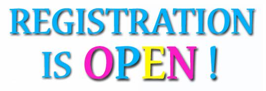 REgistration is now open!