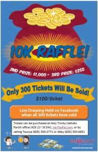 10000 Raffle Poster